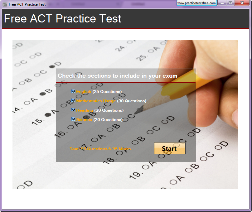 Click to view Free ACT Practice Test screenshots