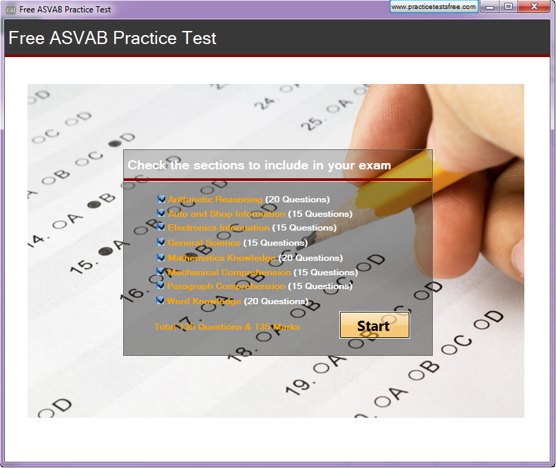 Click to view Free ASVAB Practice Test screenshots