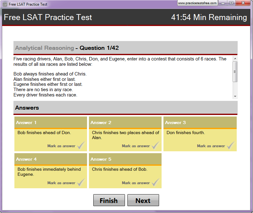 lsat analytical reasoning practice questions with answers pdf